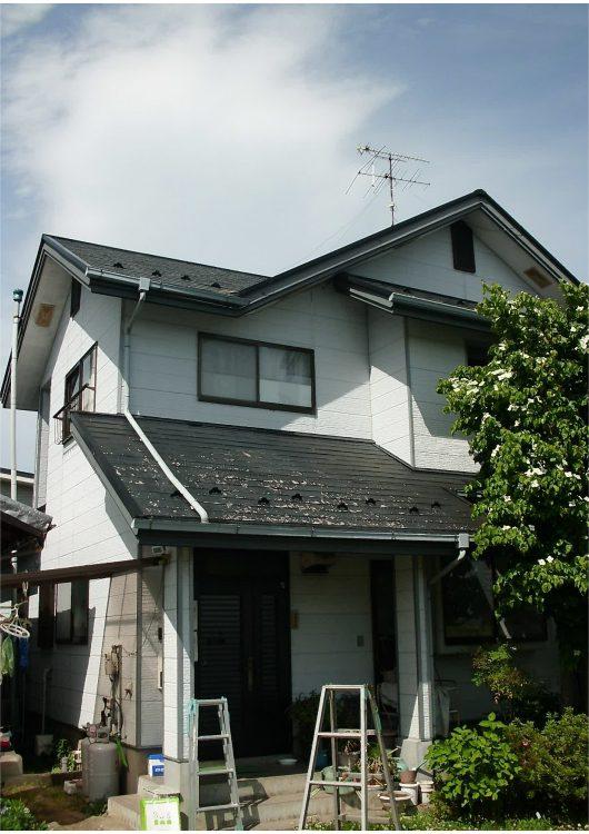 外壁塗装・屋根重ね葺き工事前