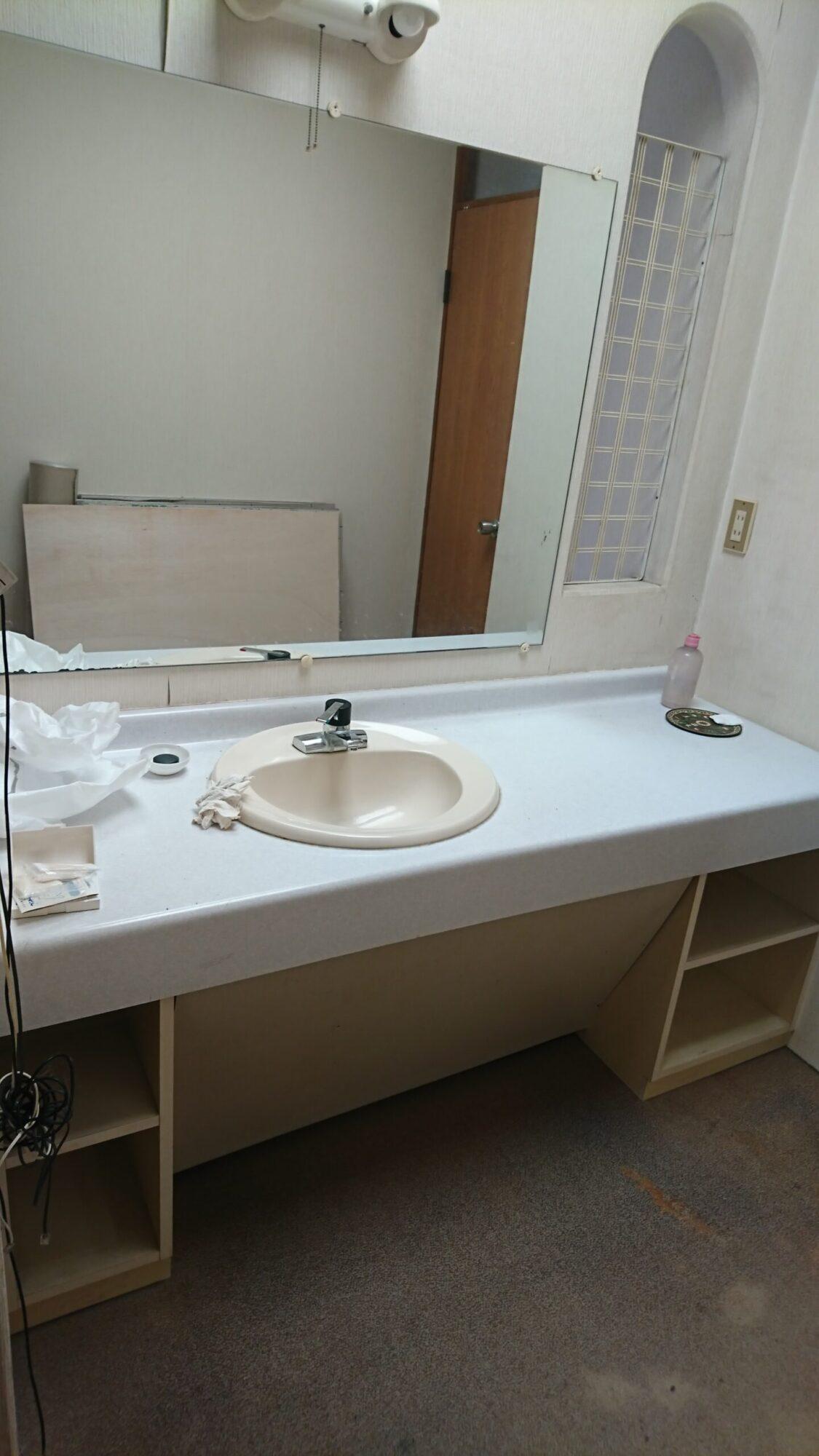 洗面空間リフォーム 施工前